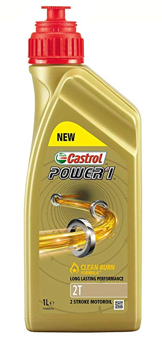 misch l l zweitakt l 2 takt castrol power 1 clean burn 1 liter. Black Bedroom Furniture Sets. Home Design Ideas
