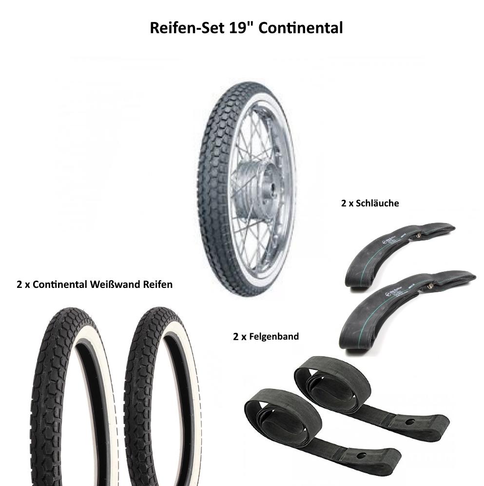 2 Felgenbänder Reifen 2 3//4x16 2 Schläuche Reifen SET 2 Stück